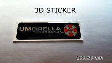 3D AUFKLEBER -STICKER- Umbrella Corporation Resident Evil chrome effect 100x30mm