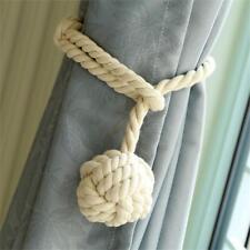 2X Handmade Curtain Tie Back Rope Window Treatment Cotton Rope Tassel Decor DIY