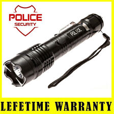 METAL POLICE STUN GUN 1158 - 17 BV Rechargeable With LED Flashlight and Case