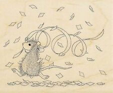 Confetti Fun HOUSE MOUSE Wood Mounted Rubber Stamp STAMPENDOUS, NEW - HMV27