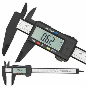 Electronic Digital Caliper Carbon Fiber Vernier Micrometer Measuring Tool Gauge