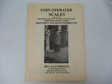 Coin Operated Scales Catalog Antique Coin op Identification Guide Repair 1999