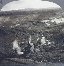 Keystone Stereoview a Strip Coal Mine, Hazelton PA from 1910's Education Set # B