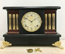 RESTORED Original Antique Gilbert USA Mantel Clock #1534