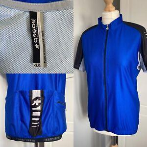 ASSOS Blue Short Sleeve Men's Jersey XLG (XXL) Full Zip 3 Pocket Swiss Cycling