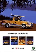 Poster DINA3 Skoda Pick-Up Fun-Studie 1993 Auto PKWs CZ Pickup Škoda int Nr 49