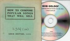 BOB GELDOF How To Compose Popular Songs That Will Sell Sampler 6-track promo CD