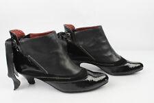 Bottins Boots XX By MEXX Cuir et Cuir verni Noir T 37 TRES BON ETAT