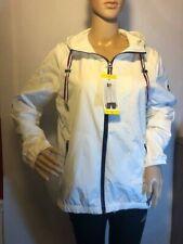 Tommy Hilfiger Womens White Wind Breaker Jacket (SMALL)