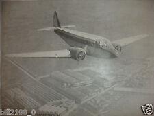 affiche publicitaire pour l'avion Potez 56  pour les transports rapides