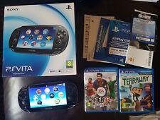 Sony PS Vita PCH-1003 boxed 4gb memory card  2 games  FW 3.68