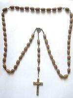 Sacro Rosario antico con pietre in legno Ricordo di Gerusalemme (63) Come da fot
