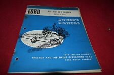 Ford Tractor 901 Rotary Cutter Operator's Manual YABE11
