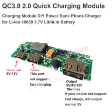 QC3.0 Lithium Li-ion 18650 Battery Fast Charging Charger Module DIY Power Bank