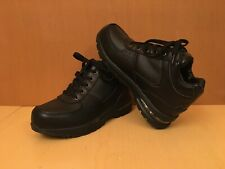 Mountain Gear Black Leather Hiking Boots Kid's Size 4 Shoes Lace Up