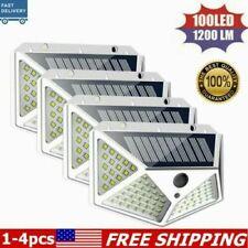 New listing 100Leds Solar Power Pir Motion Sensor Wall Light Outdoor Garden Yard Lamp 1/2/4x