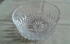 "Vintage Arcoroc Clear Glass 5"" Crystal Serving Bowl Made In France"