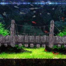 Fish Tank Aquarium Ornament Decoration Resin Bridge landscape Wood Bridge