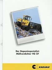 Prospekt 2001 Kaelble VG 27 Müllverdichter brochure broschyr construction