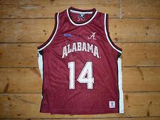 Medio NCAA Alabama baloncesto universitario Vintage Jersey Chaleco Camisa Jersey para hombre #14