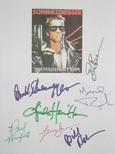 Terminator Signed Movie Script X7 Arnold Schwarzenegger Bill Paxton Boen reprint