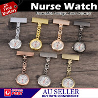 BRAND NEW METAL MEDICAL NURSE BROOCH NURSE NURSING PENDANT POCKET FOB WATCH   AU