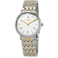 DKNY Minetta White Dial Ladies Two Tone Watch NY2505