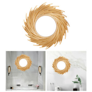 Gold Hanging Sun Shaped Mirror Bathroom Living Room Decoration Home Supplies