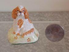 Vtg Miniature Cavalier King Charles Spaniel Dog Figurine Signed Basil Matthews