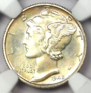 1942 PROOF Mercury Dime 10C Coin - Certified NGC PR68 (PF68) - $1,750 Value!