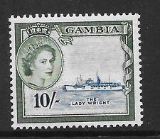 GAMBIA SG184 1985 10/- DEEP BLUE & MERTLE-GREEN  MNH