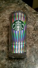 Starbucks Rainbow Iridescent Purple/Green/Pink 20oz COLD CUP Tumbler  2018