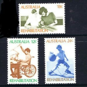 MUH Rehabilitation of the Disabled 1972 Australian Stamp Set
