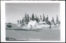 FORT CHURCHILL MANITOBA CANADA Snow Drift Vintage RPPC Postcard Old Real Photo 2