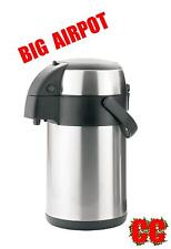 BIG 3LTR airpot coffee flask hot cold drinks tea PUMP ACTION T Urn catering jug