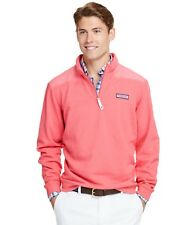 Vineyard Vines Fleece Overdyed Shep Shirt Salmon Pink NWOT Size M