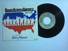 "Voices Of America – Hands Across America - Disco Vinile45 Giri7""(Stampa Italia)"
