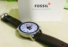 Fossil Men Smartwatch with Brown Color Leather Strap (Wear OS by Google)
