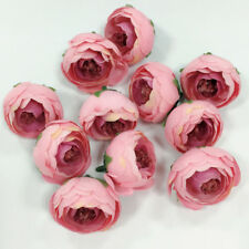 10pcs 4cm Silk Rose Bud Heads Artificial Fake Flower Wedding Party Decorations G Pink