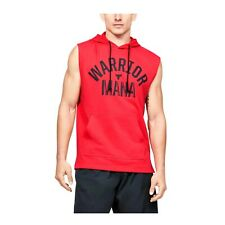 Under Armour Men's Project Rock Terry Sleeveless Quick Dry Hoodie 1352693-608