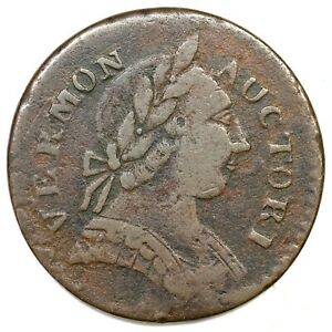 1787 RR-13 Vermont Colonial Copper Coin