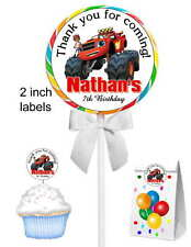40 BLAZE AND THE MONSTER MACHINES BIRTHDAY PARTY LOLLIPOP STICKERS
