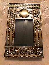 Sun Palm Trees Bronze Picture Photo Frame 2.5 X 3.5 Inches