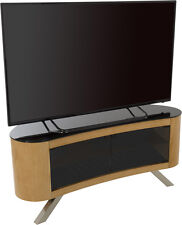"AVF Affinity Plus Bay 1150 Curved TV Stand for TVS up to 55"" Oak"