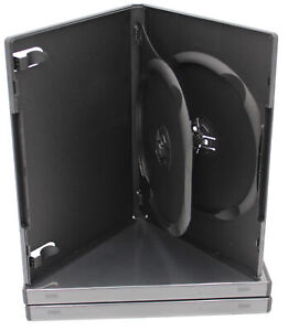 (3) Standard DVD Replacement Case 14mm 2-Disc Premium Movie Storage Shell Cases
