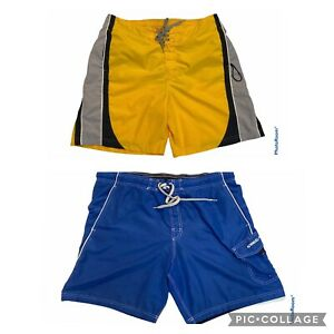 Mens Speedo Swim Trunks Board Shorts Size Large Lot Of 2 Excellent Condition!