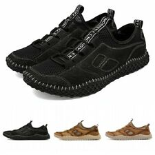 45 46 Mens Faux Leather Breathable Moccasin Casual Driving Loafer Shoes Comfy L