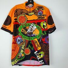 Sugoi Mens Multi Color Jamaican Rock Roasted Mon Cycling Jersey Large
