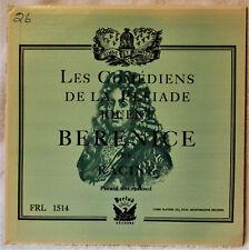 Les Comediens de la Pleiade Jouent Berenice de Racine French Literature LP Text