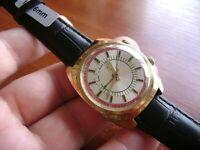 Vintage Soviet wrist Watch Poljot 2612.1 Alarm 18 Jewels USSR Mechanical